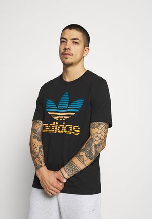 TREF OMBRE UNISEX - Print T-shirt - black