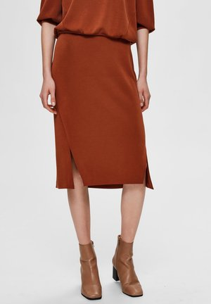 SLFTENNY - Pencil skirt - brown