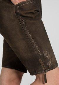 Spieth & Wensky - OXANA - Leather trousers - dark brown - 3