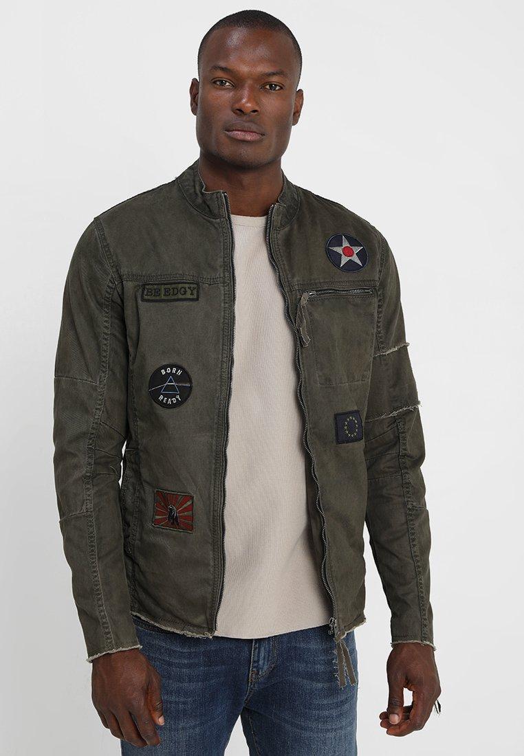 Be Edgy - BE THEO PAT - Denim jacket - khaki