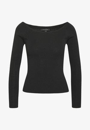 THE LONG SLEEVE OFF THE SHOULDER - Pullover - black