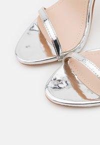 BEBO - SPARRA - High heeled sandals - silver metallic - 5