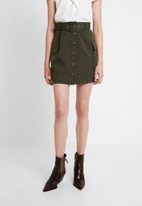 River Island - Mini skirt - khaki - 0