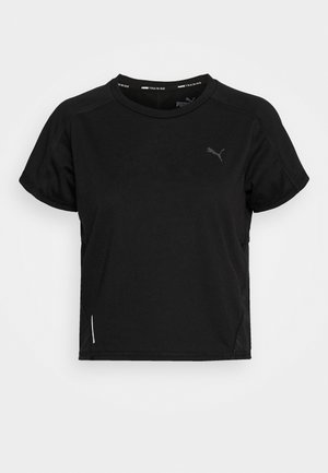 TRAIN PANEL TEE - T-shirts med print - black