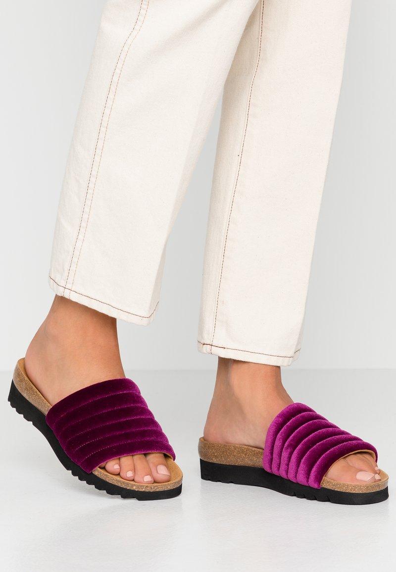 Scholl - MYA  - Domácí obuv - fuchsia