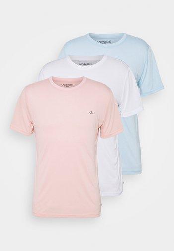 3 PACK - T-shirt basique - soft pink/white/blue