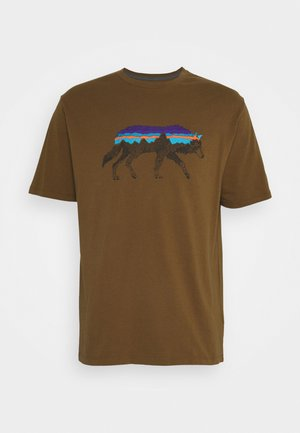 BACK FOR GOOD  - Print T-shirt - mulch brown