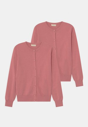 2 PACK - Strikjakke /Cardigans - rose wine