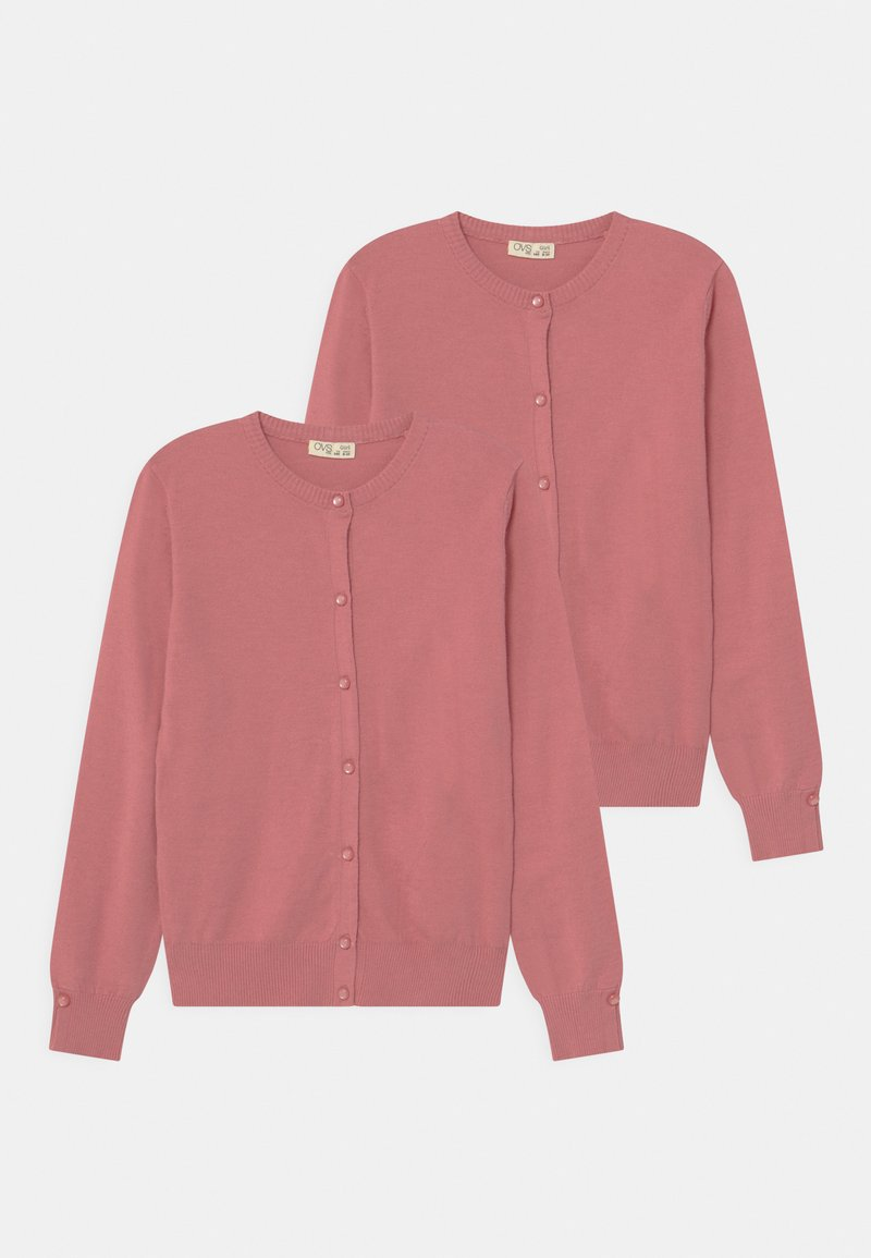 OVS - 2 PACK - Cardigan - rose wine