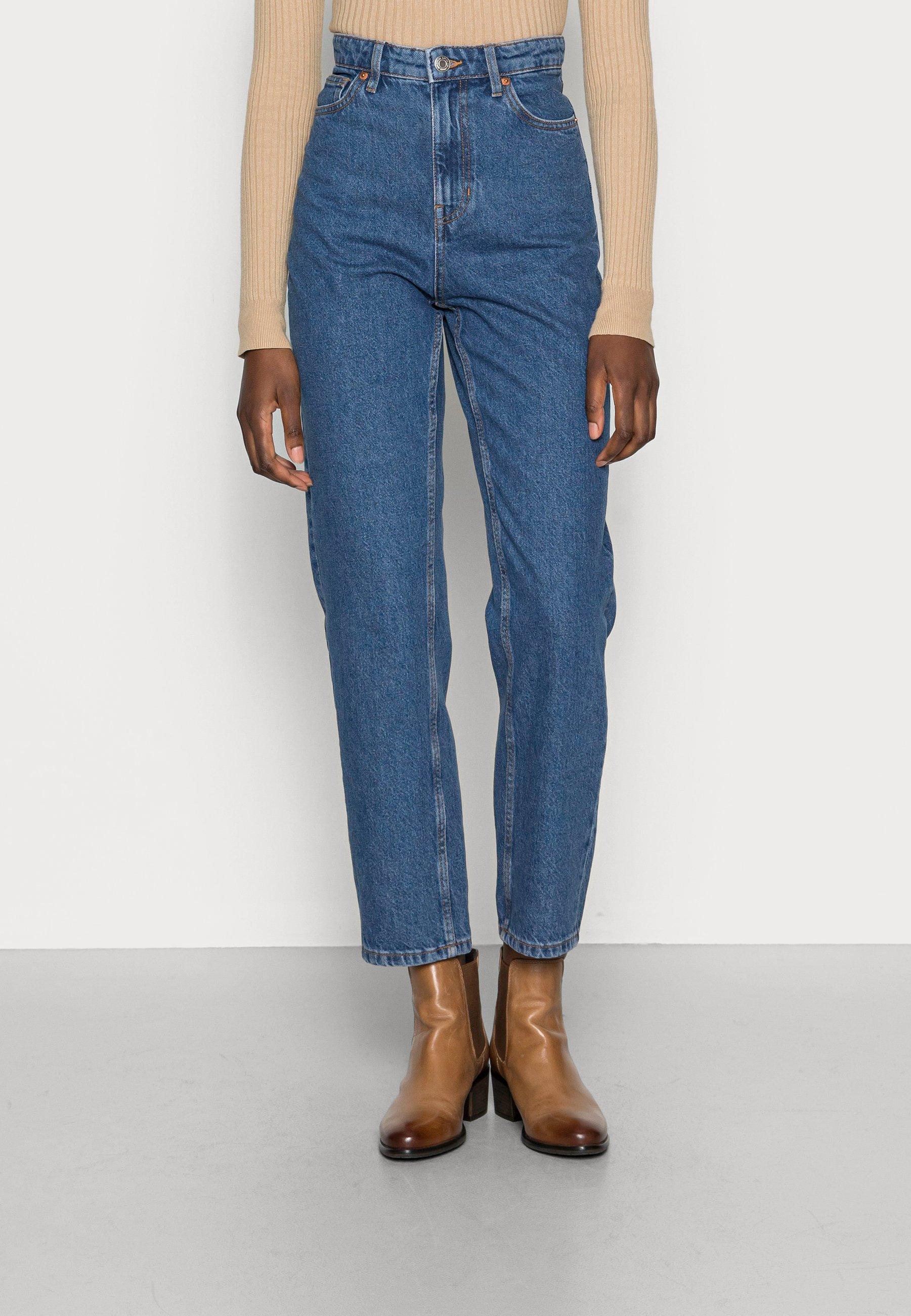 Damer TROUSERS DENIM BETTY RETRO BLUE - Jeans Straight Leg