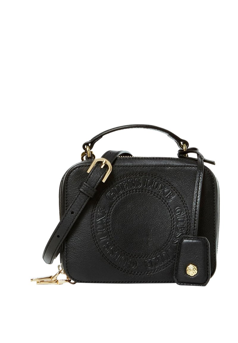 Guess - CAMERA BAG ECHTES LEDER - Sacoche d'appareil photo - black