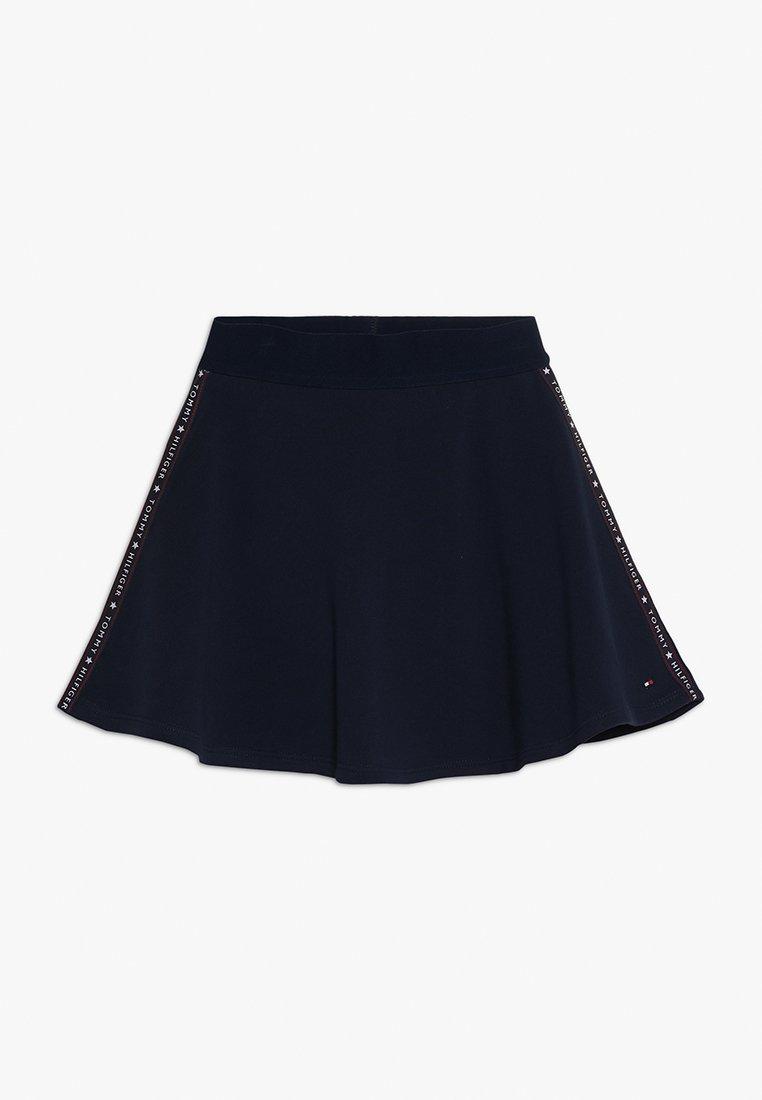 Tommy Hilfiger - ESSENTIAL TAPE SKIRT - A-line skirt - blue
