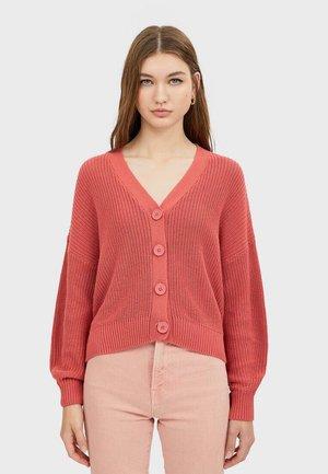 MIT FALLENDEN ÄRMELN - Cardigan - pink