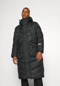 G-Star - UTILITY QUILTED EXTRA LONG PARKA - Winter coat - namic lite black - 3