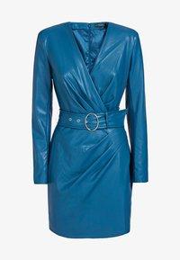 Guess - GUESS KLEID KUNSTLEDER - Day dress - blue - 2