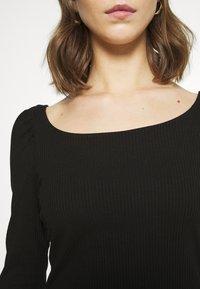 Vila - VILANA SQUARE NECK - Long sleeved top - black - 5