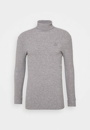 LONG SLEEVE BRUSHED TURTLE NECK - Svetr - light grey