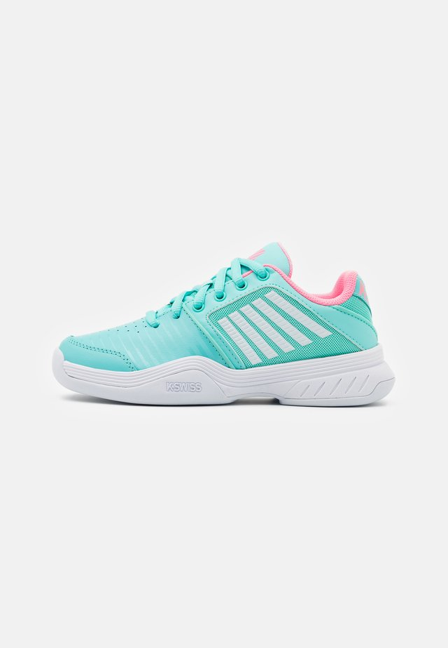 COURT EXPRESS CARPET UNISEX - Chaussures de tennis pour gazon - aruba blue/soft neon pink/white