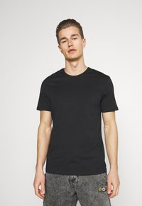 Pier One - 5 PACK - Basic T-shirt - brown/white/black