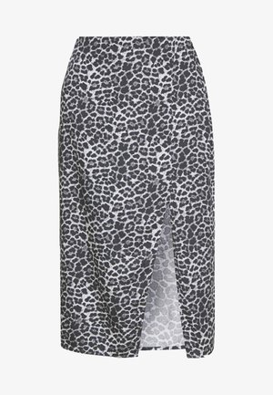 LEO PRINTED MIDI SKIRT - Pencil skirt - white