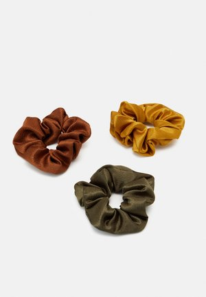 PCHOLLY SCRUNCHIE 3 PACK - Hair Styling Accessory - grape leaf