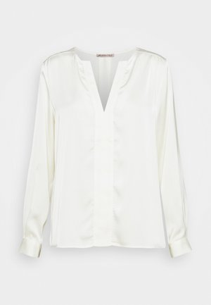 Satin V Neck - Blusa - off-white