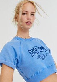 PULL&BEAR - Print T-shirt - light blue - 3
