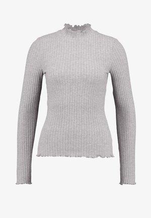 NMBERRY HIGH NECK - Svetr - medium grey melange