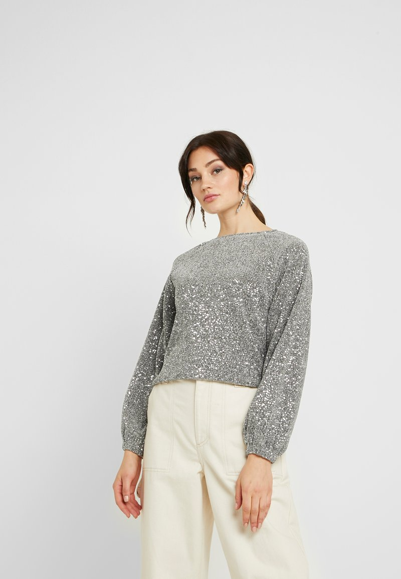 Gina Tricot - GILLY - Langærmede T-shirts - silver