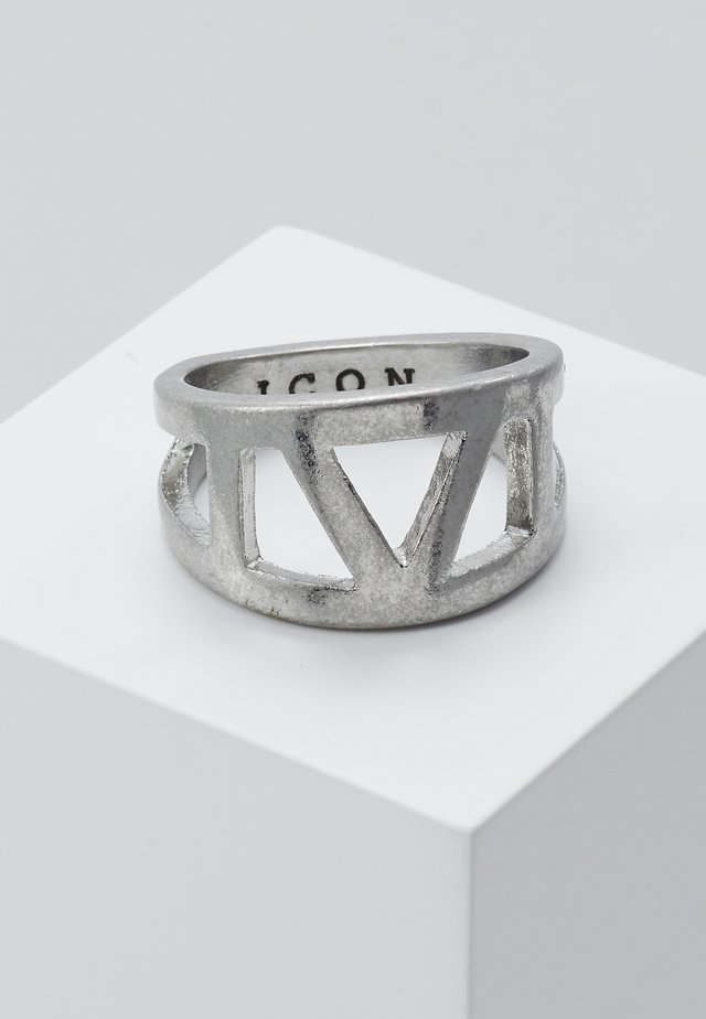 ROMANNUMERALCUT OUT - Ring - silver-coloured