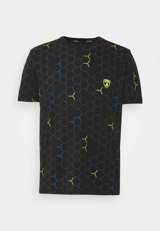 MAN CREW - T-shirt med print - nero