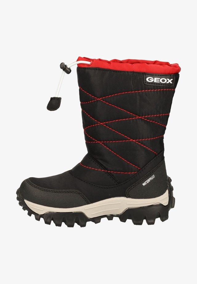 HIMALAYA BOY - Winter boots - black/red c0048
