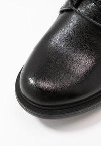 MJUS - Šněrovací kotníkové boty - nero - 2