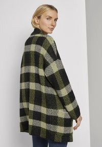 TOM TAILOR - Cardigan - black yellow check knitted - 2