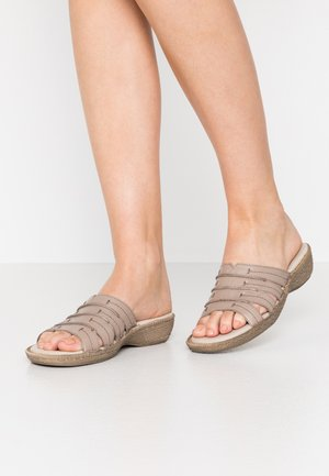 SLIDES - Mules - taupe