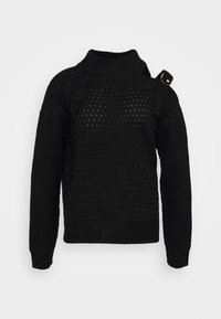 DKNY - CUT OUT RIBBED SWEATER  - Jumper - black - 0
