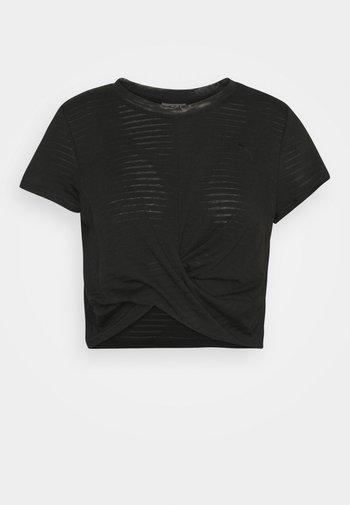 STUDIO TWIST BURNOUT TEE - T-shirts med print - black