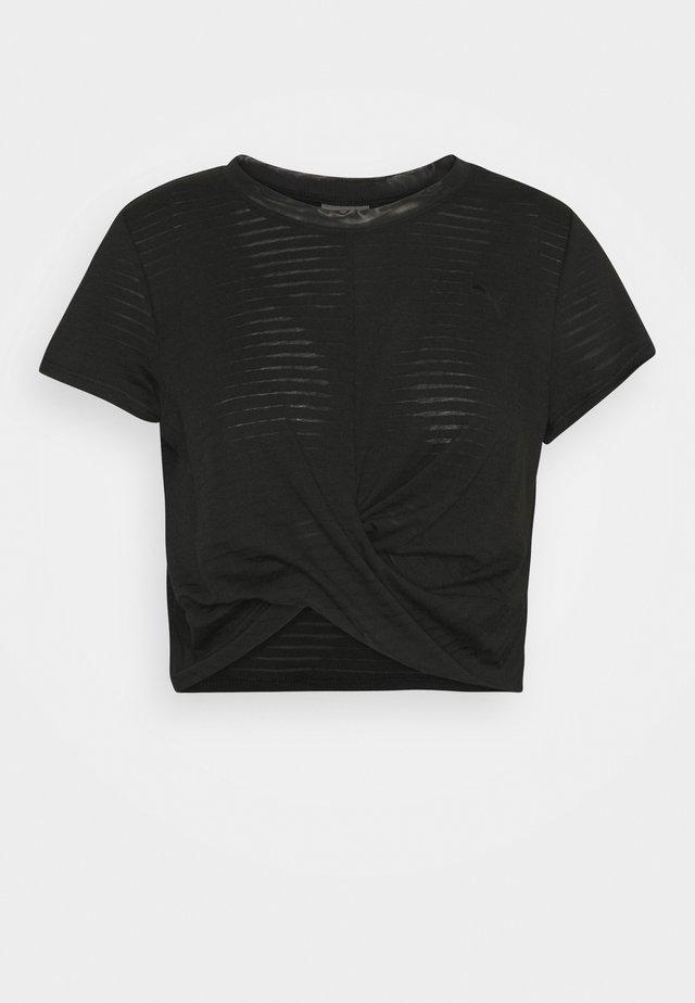 STUDIO TWIST BURNOUT TEE - Print T-shirt - black