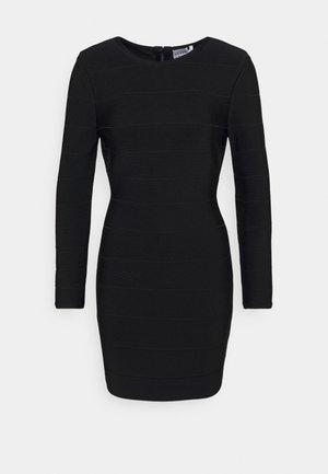 ICON LONG SLEEVE DRESS - Shift dress - black