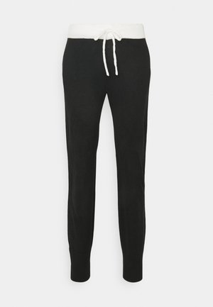 ONLAUBREE LOOSE PANTS  - Joggebukse - black/white