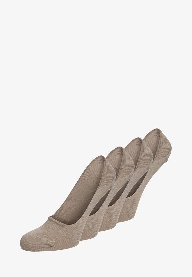 4 PACK - Trainer socks - sand