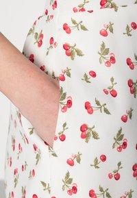 Abercrombie & Fitch - BARE TIE SHOULDER SLIM WAIST MINI - Kjole - white - 4
