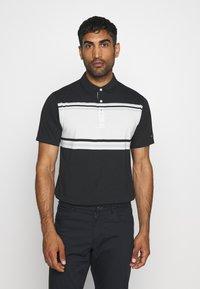 Nike Golf - DRY PLAYER STRIPE - Funkční triko - black/sail/sky grey/silver - 0