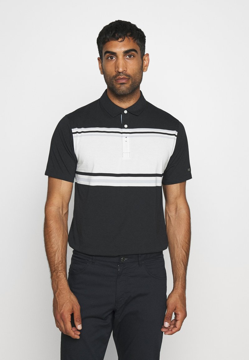 Nike Golf - DRY PLAYER STRIPE - Funkční triko - black/sail/sky grey/silver