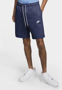 Nike Sportswear - MODERN - Shorts - midnight navy/ice silver/white/white - 0