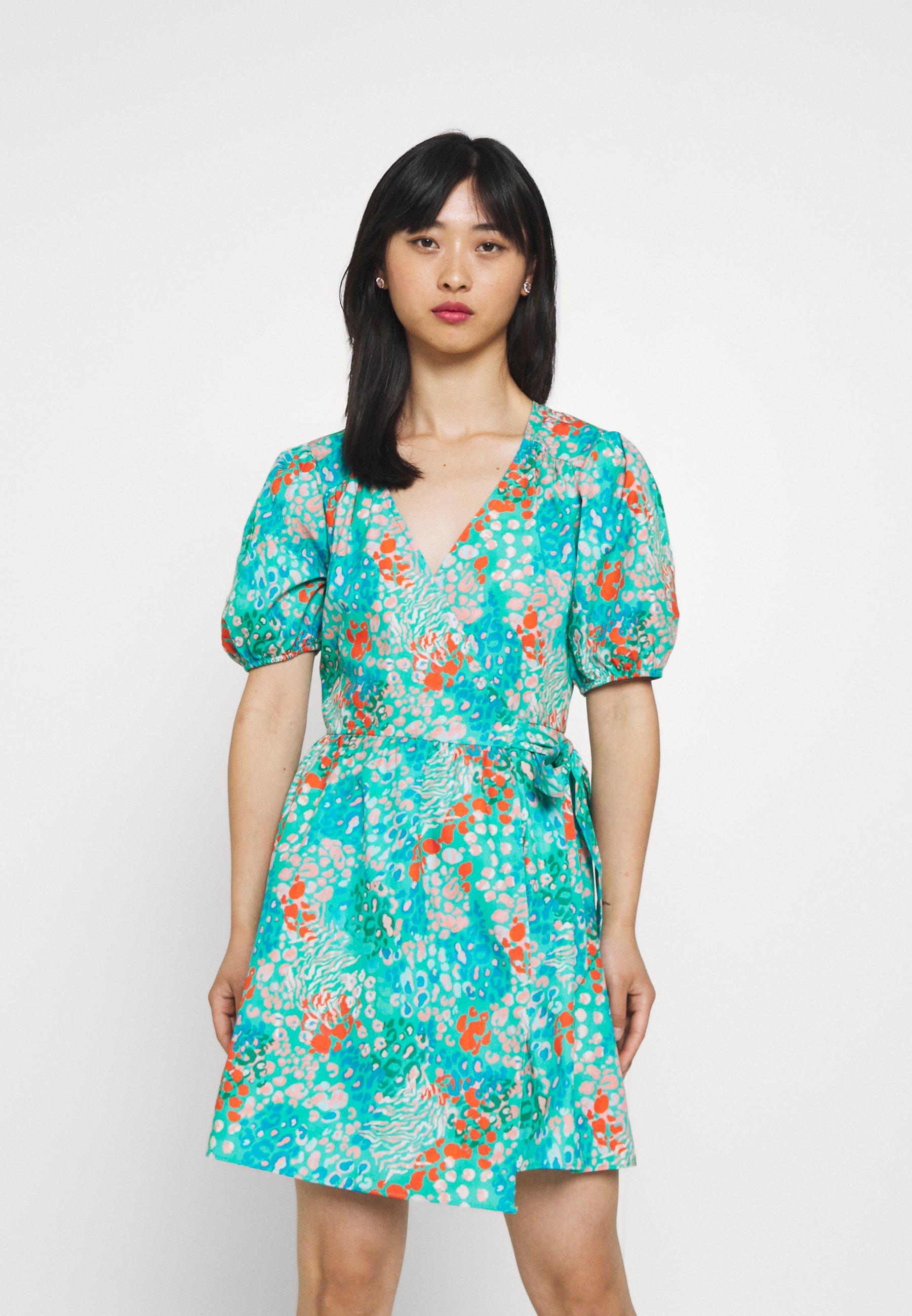 Women DISTY BLUE DRESS - Day dress