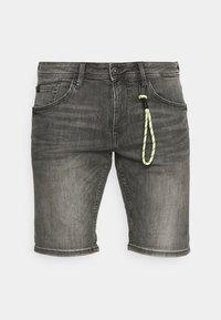 TOM TAILOR DENIM - REGULAR FIT - Denim shorts - grey denim - 4