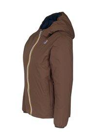 K-Way - Down jacket - brown-blue maritime - 1