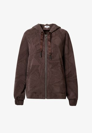 WINTER JUNGLE - Bluza rozpinana - brown