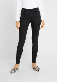 Noisy May - NMLUCY UTILITY PANTS - Trousers - black - 0